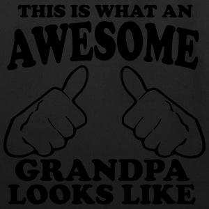 This is What an Awesome Grandpa Looks Like Hoodies - Eco-Friendly Cotton Tote