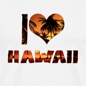 I LOVE HAWAII - Men's Premium T-Shirt