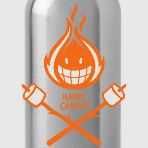 Happy Camper 2-color T-Shirts - Water Bottle
