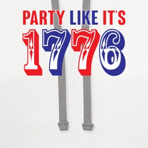 party like its 1776 Tanks - Contrast Hoodie