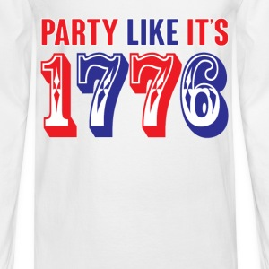 party like its 1776 Tanks - Men's Long Sleeve T-Shirt