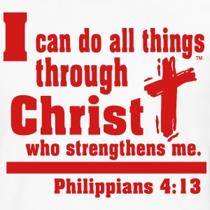 I can do all things through CHRIST - Men's Premium Long Sleeve T-Shirt