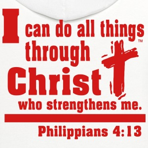 I can do all things through CHRIST - Contrast Hoodie