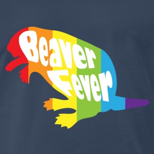 Beaver Fever Rainbow Funny Tanks - Men's Premium T-Shirt