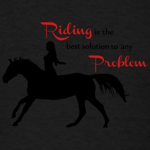 Riding is the best..... Tanks - Men's T-Shirt