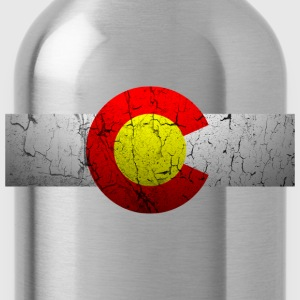 Vintage Colorado Flag - Water Bottle