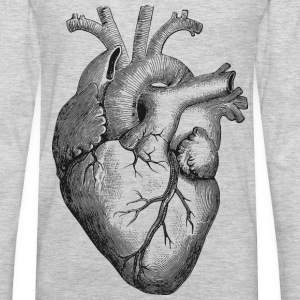 Anatomical Heart - Men's Premium Long Sleeve T-Shirt