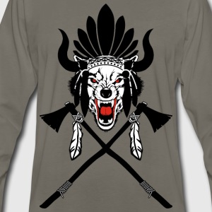 Wolf Indian Headdress II - Men's Premium Long Sleeve T-Shirt