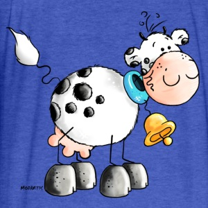 Happy Cow - Cows - Farm Sweatshirts - Fitted Cotton/Poly T-Shirt by Next Level