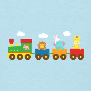 cute colourful animals train Baby & Toddler Shirts - Men's T-Shirt