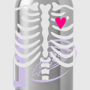 Halloween Dad to be skeleton X-ray T-shirt - Water Bottle
