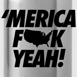 Merica Fuck Yeah! Long Sleeve Shirts - Water Bottle