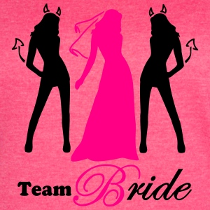 team bride 2 colors Tanks - Women's Vintage Sport T-Shirt