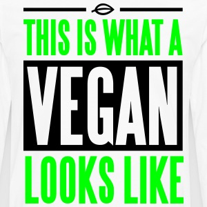 This is what a vegan looks like T-Shirts - Men's Premium Long Sleeve T-Shirt