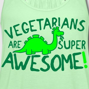 Vegetarians are super awesome! Women's T-Shirts - Women's Flowy Tank Top by Bella