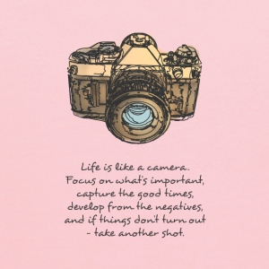 life is like camera quote Women's T-Shirts - Kids' Hoodie