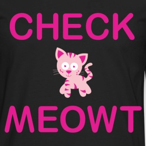 Check meowt - Men's Premium Long Sleeve T-Shirt