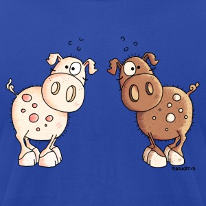 Two Cute Pigs - Pig - Piggy Hoodies - Men's T-Shirt by American Apparel