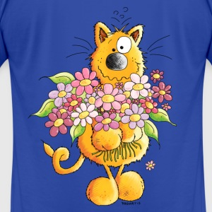Sweet Cat With Flowers - Cats Hoodies - Men's T-Shirt by American Apparel