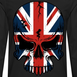 The British Flag Skeleton  - Men's Premium Long Sleeve T-Shirt