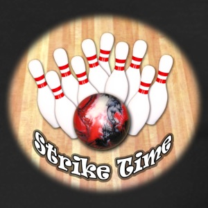 Strike Time Bowling Logo - Men's Premium Long Sleeve T-Shirt