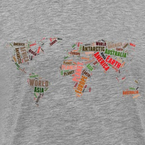 World map words cloud Long Sleeve Shirts - Men's Premium T-Shirt