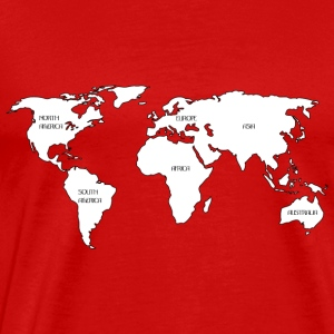 World map Tanks - Men's Premium T-Shirt