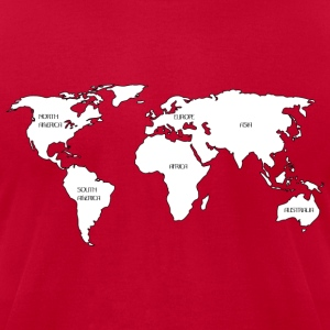 World map Sweatshirts - Men's T-Shirt by American Apparel