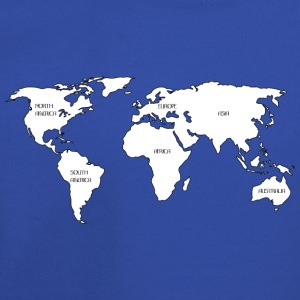 World map Long Sleeve Shirts - Kids' Premium Hoodie