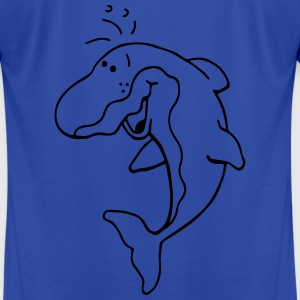Happy Dolphin - Dolphins - Marine Hoodies - Men's T-Shirt by American Apparel