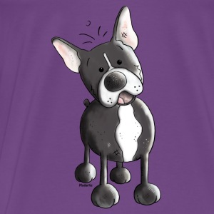 Happy French Bulldog - Dog - Dogs Tanks - Men's Premium T-Shirt