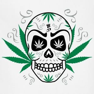Ganja skull  logo__3c Hoodies - Adjustable Apron