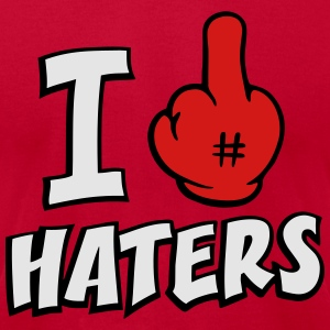 I FUCK HATERS 3c Hoodies - Men's T-Shirt by American Apparel