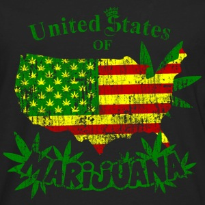 US of Marijuana  vintage Hoodies - Men's Premium Long Sleeve T-Shirt
