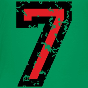 Number Seven T-Shirt No.7 (Kids Green) - Toddler Premium T-Shirt
