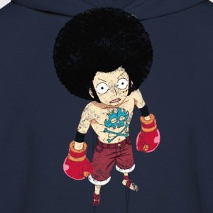 Boxing Luffy Grunge Style - Men's Hoodie