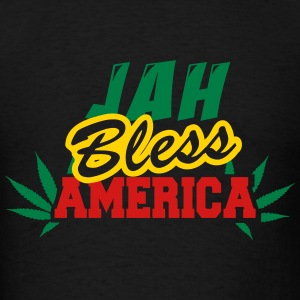 Jah Bless America Fonts Hoodies - Men's T-Shirt