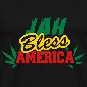 Jah Bless America Fonts Hoodies - Men's Premium T-Shirt
