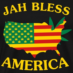 Jah Bless America Map2 Hoodies - Men's Premium T-Shirt