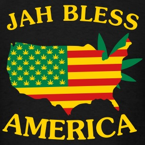 Jah Bless America Map2 Hoodies - Men's T-Shirt