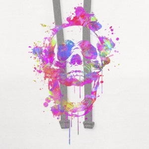 Cool & Trendy Watercolor Skull Kids' Shirts - Contrast Hoodie