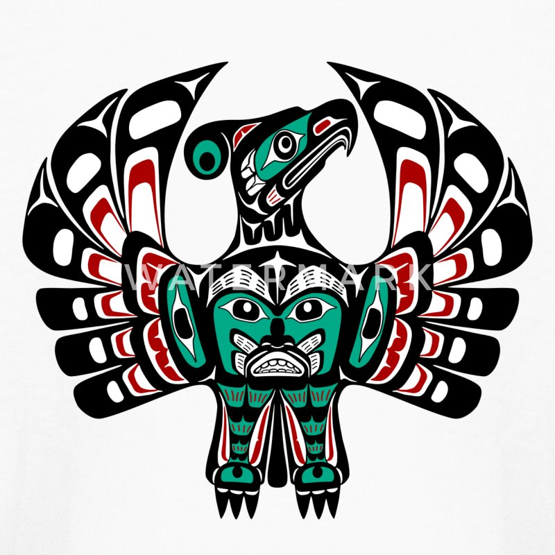 Northwest Pacific coast Haida art Thunderbird Kids' Shirts - Kids' Long Sleeve T-Shirt