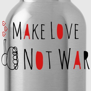 Make Love Not War Doodle T-Shirts - Water Bottle