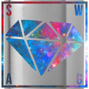 SWAG Diamond Galaxy T-Shirts - Water Bottle