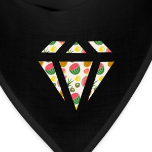 Watermelon Diamond Pattern Hoodies - Bandana