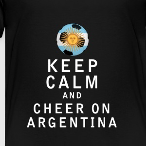 Keep Calm and Cheer On Argentina - Toddler Premium T-Shirt