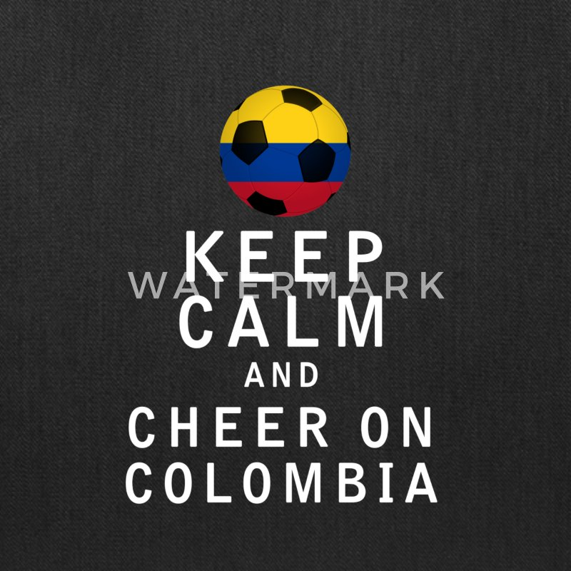 Keep Calm and Cheer On Colombia - Tote Bag