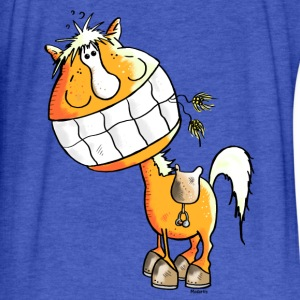 Laughing Horse - Horses Sweatshirts - Fitted Cotton/Poly T-Shirt by Next Level