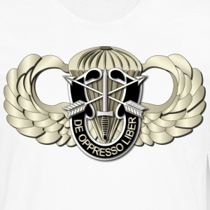 Men's Tall T-Shirt - Airborne Badge - SF DUI - Men's Premium Long Sleeve T-Shirt