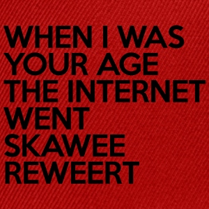 Internet Went Skawee Reweert Women's T-Shirts - Snap-back Baseball Cap